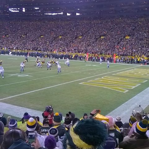 Seat View for Lambeau Field Section 107, Row 11, Seat 5