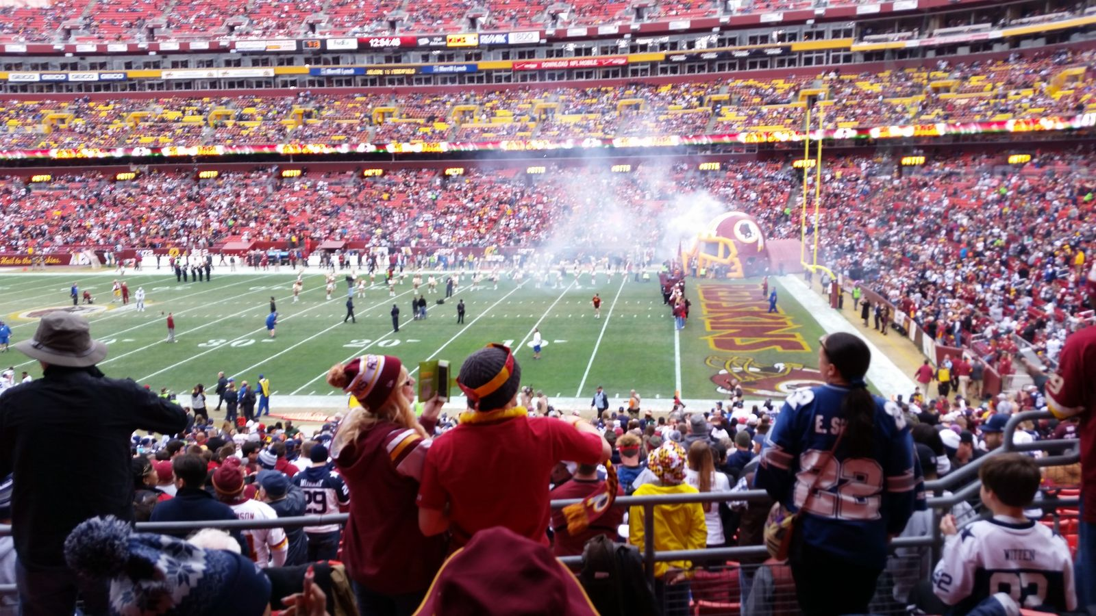 Seat View for FedExField Section 218, Row 5, Seat 9