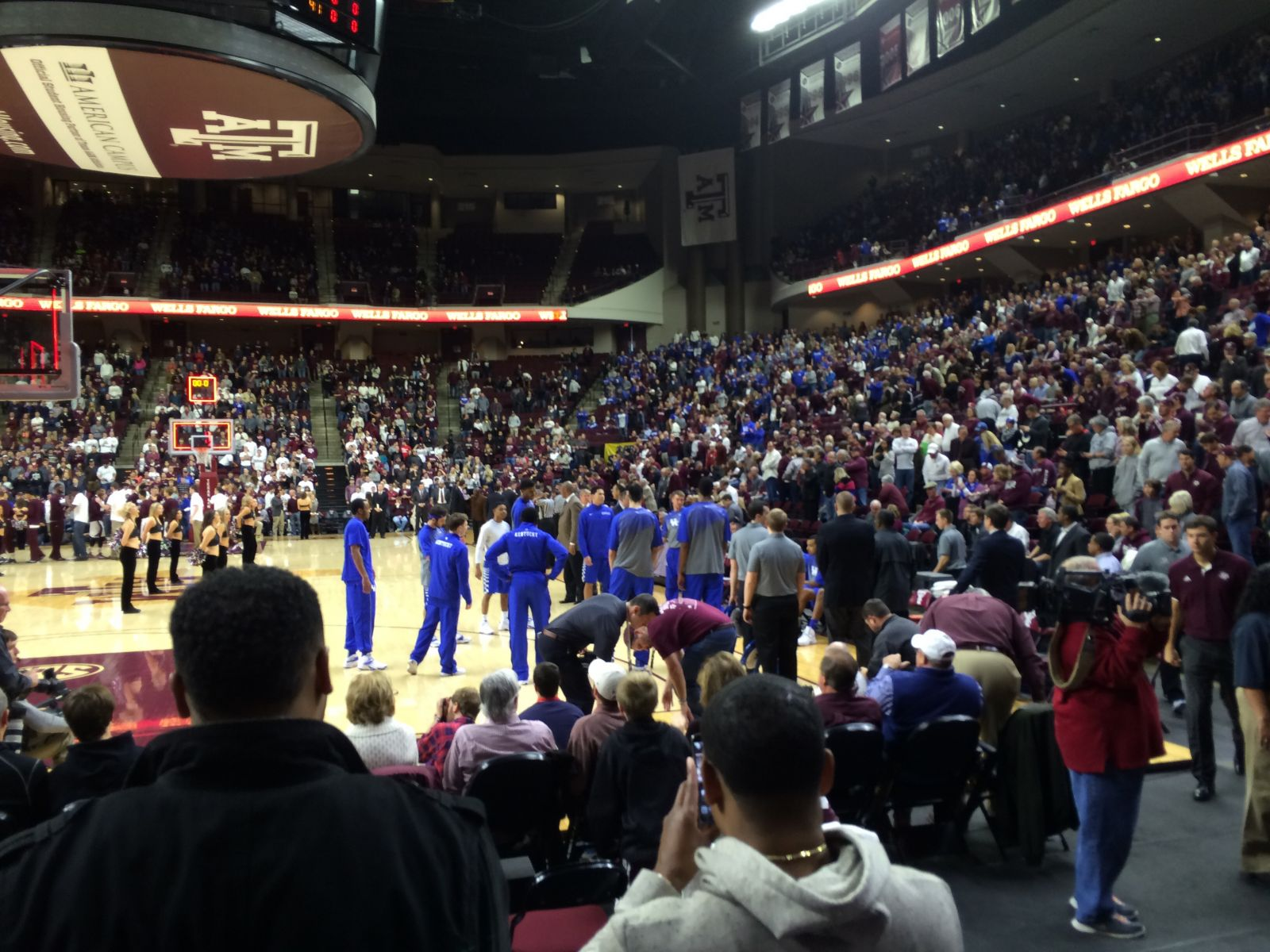 Reed Arena Section 128, Row DD