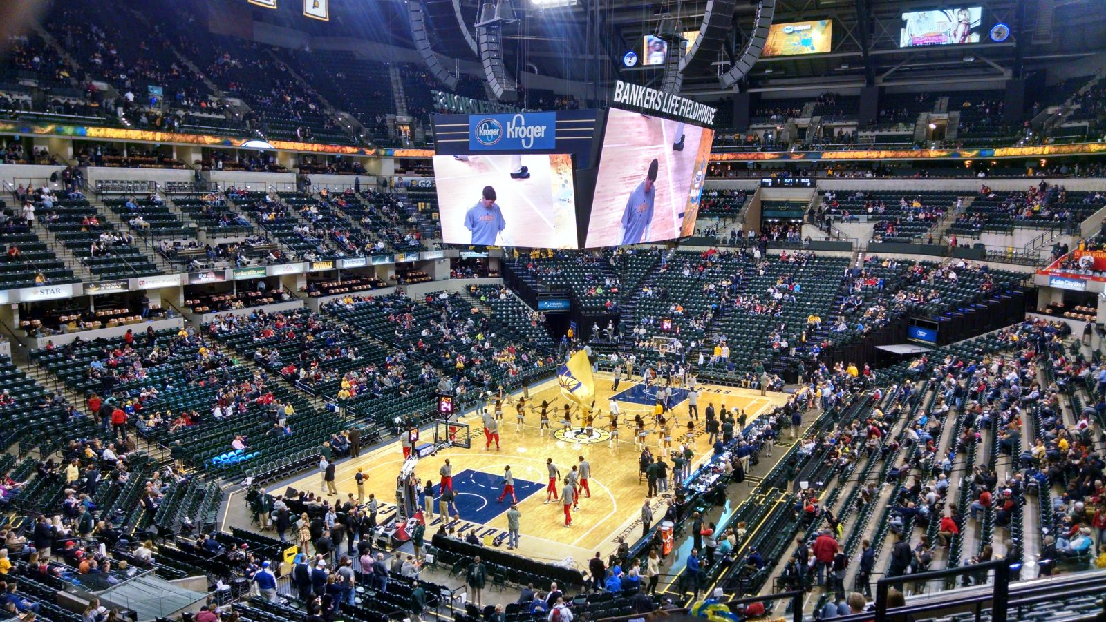 Seat View for Bankers Life Fieldhouse Section 109, Row 11, Seat 5