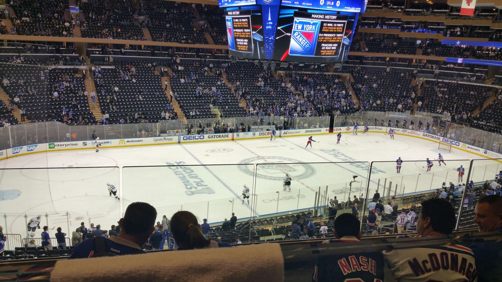 New York Rangers Seat View for Madison Square Garden Section 222, Row 4, Seat 9