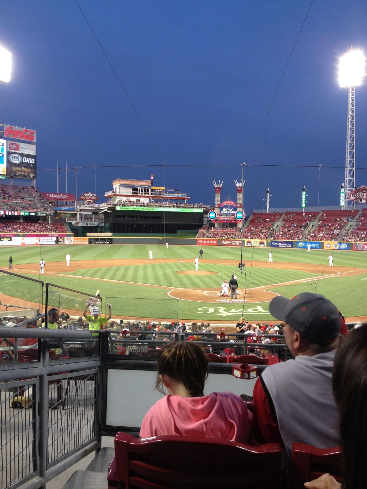 Seat View for Great American Ball Park Section 122, Row D, Seat 8
