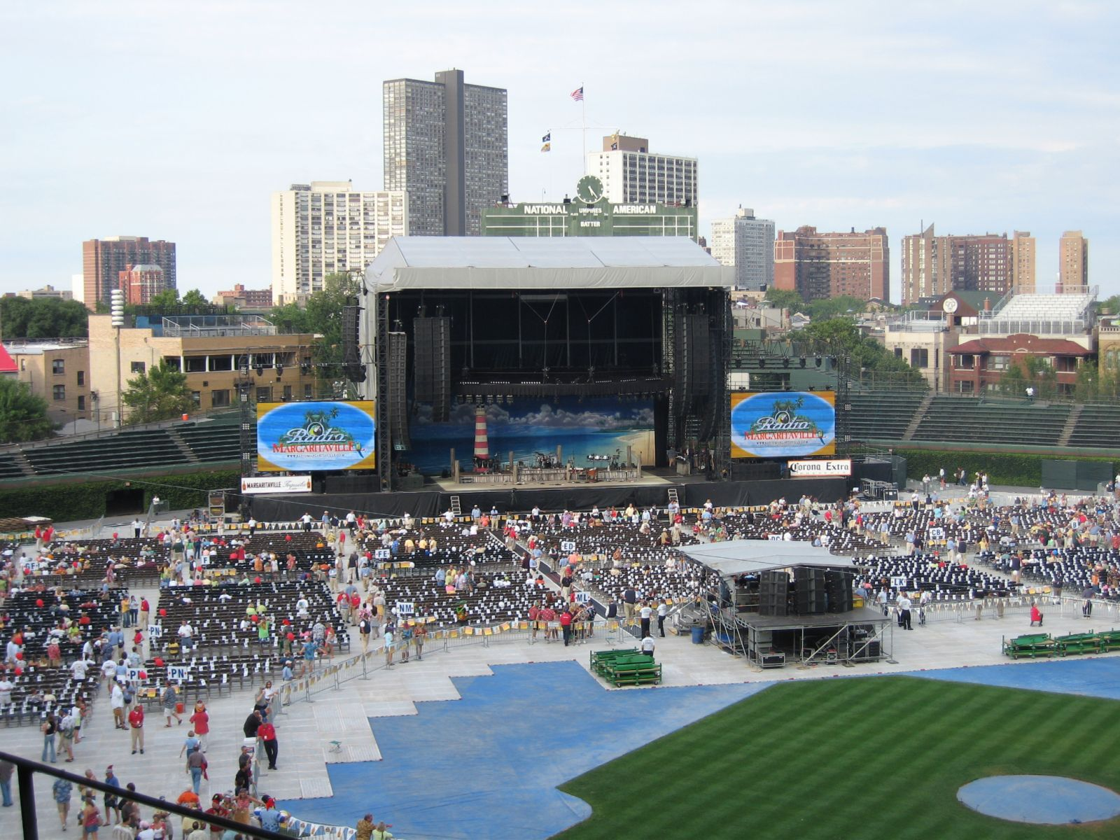 Concert Seat View for Wrigley Field Section 417