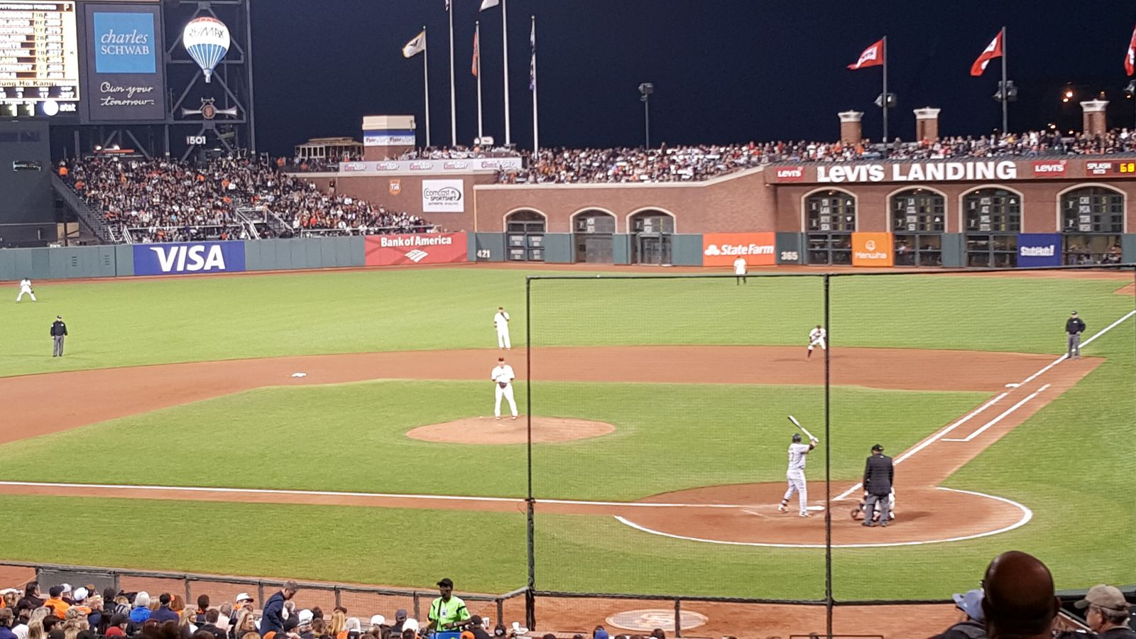 San Francisco Giants Seat View for AT&T Park Section 118, Row 39, Seat 8