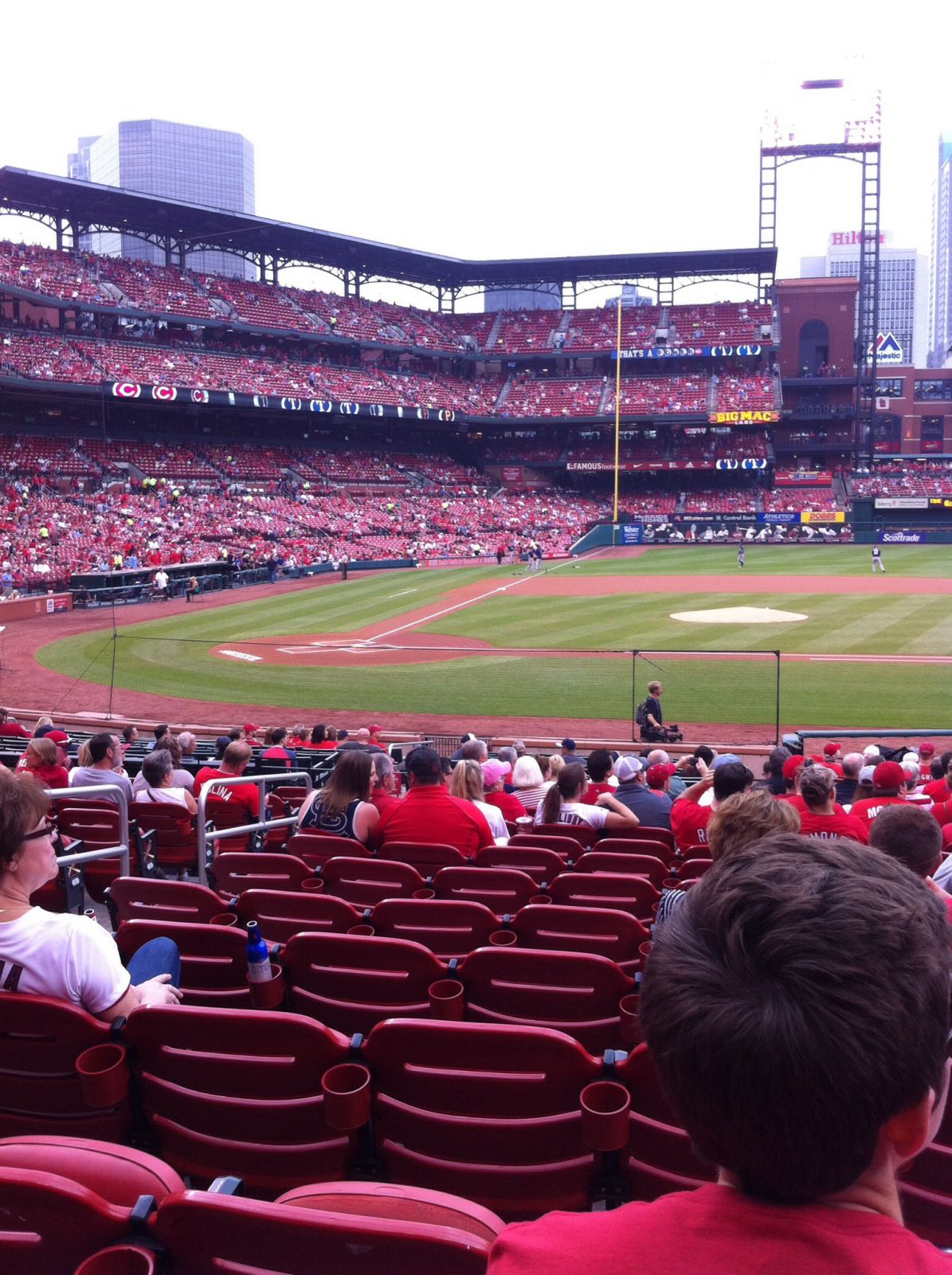 Seat View for Busch Stadium Section 145, Row 13, Seat 5