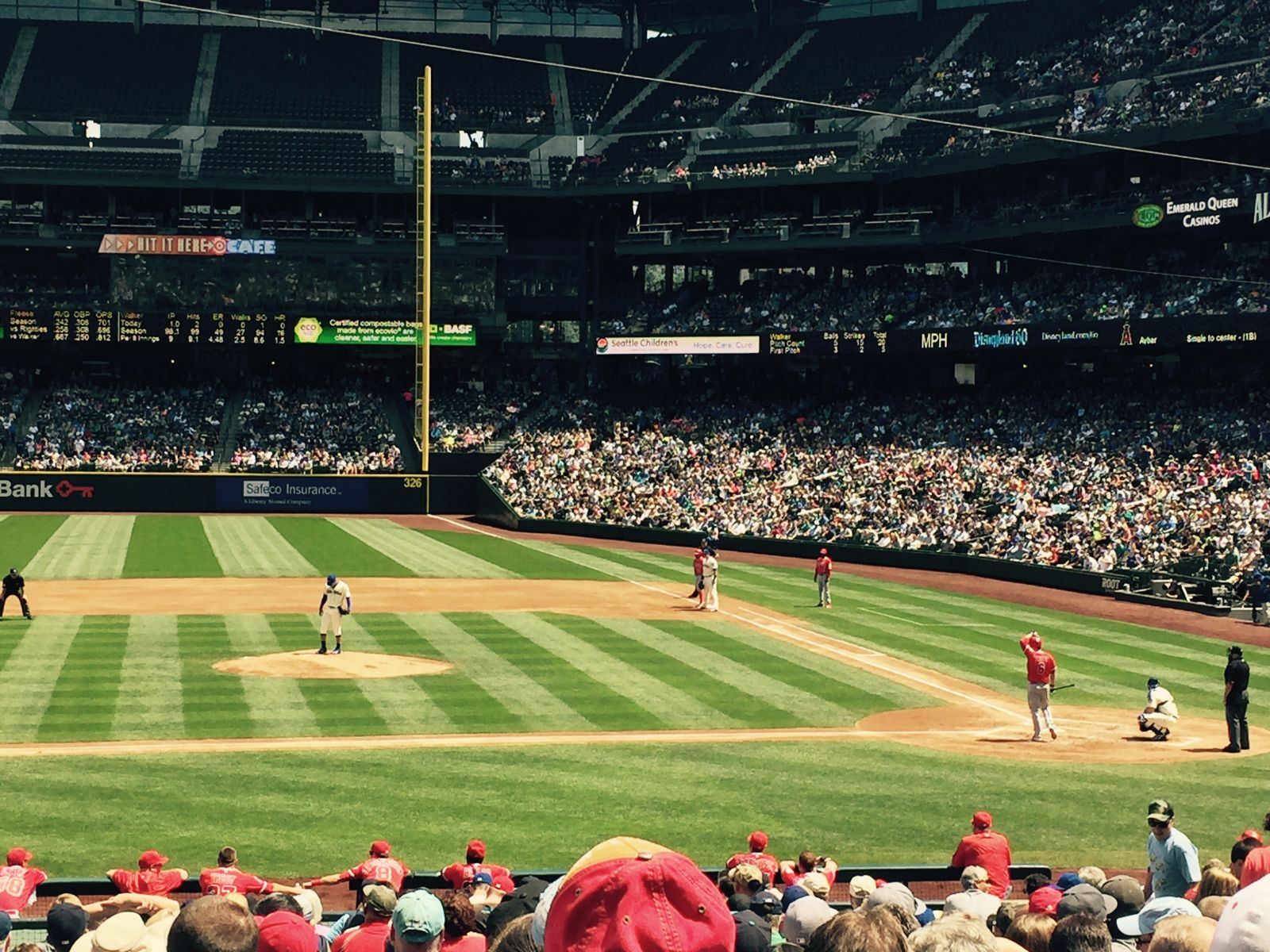 Seat View for Safeco Field Section 137, Row 28, Seat 8
