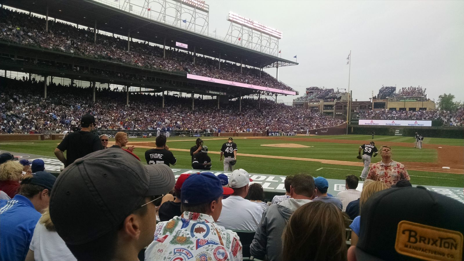 Seat View for Wrigley Field Section 31, Row 8, Seat 103