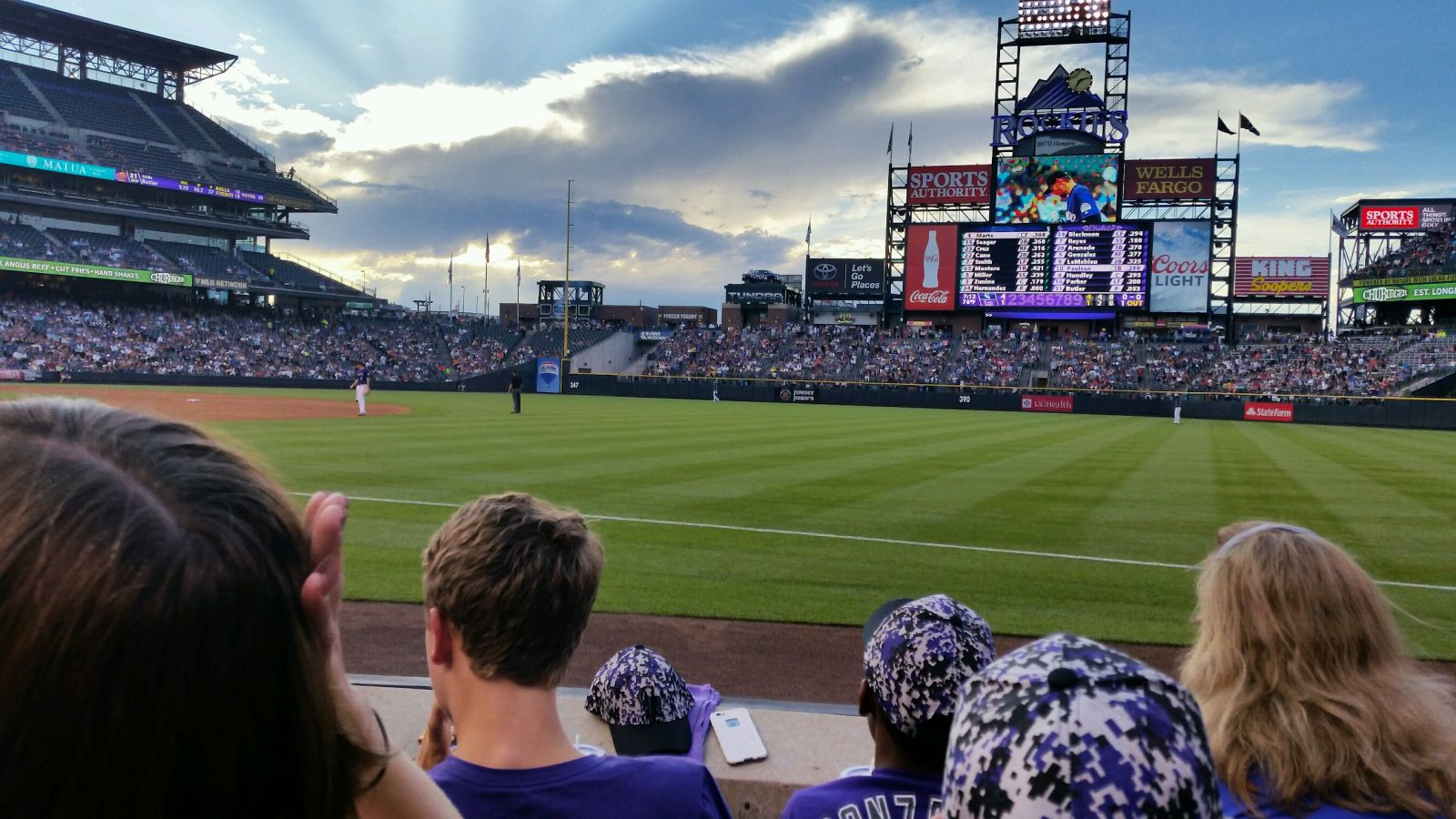 Seat View for Coors Field Section 117, Row 3, Seat 3