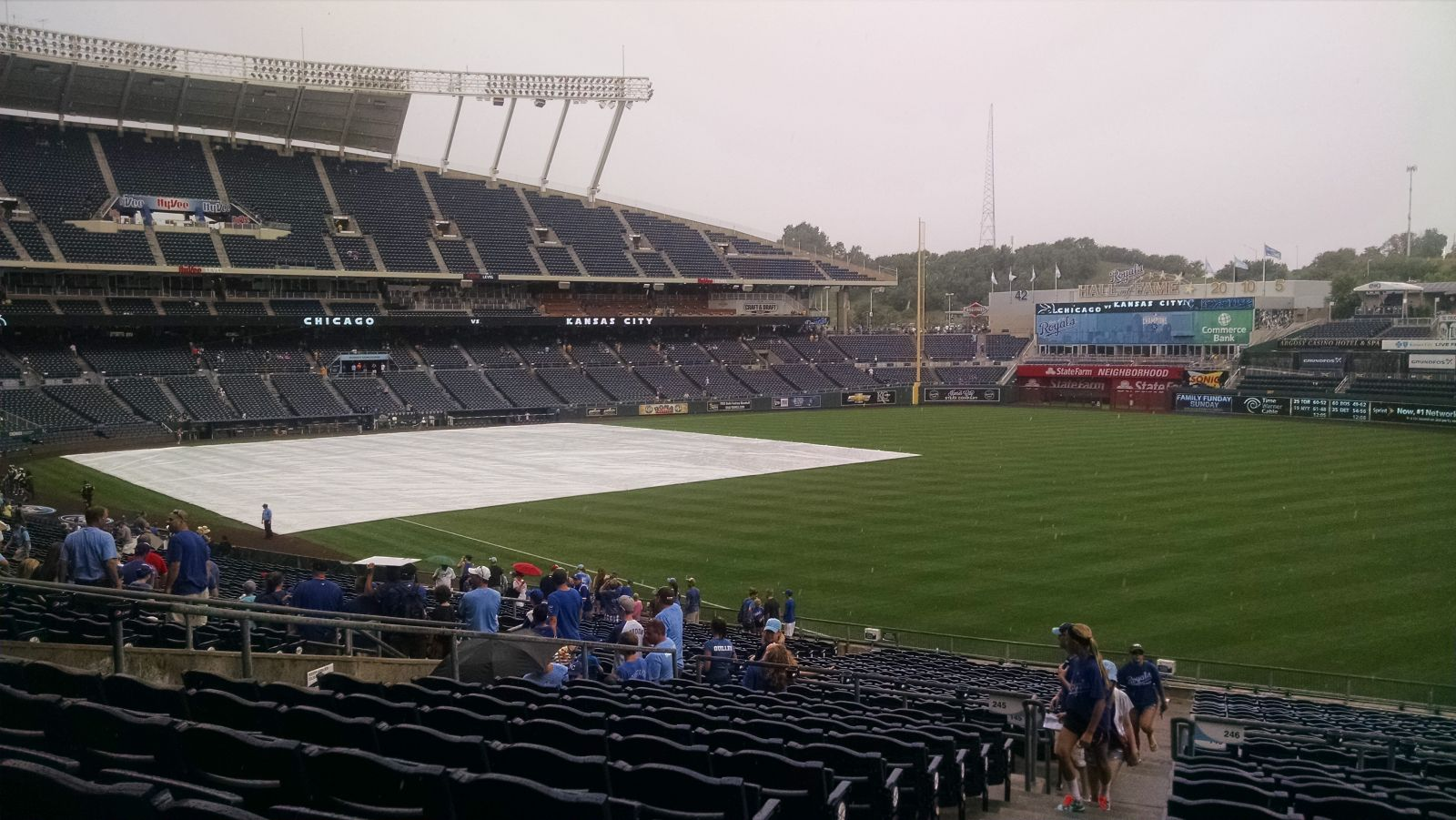 Seat View for Kauffman Stadium Section 246, Row MM, Seat 1