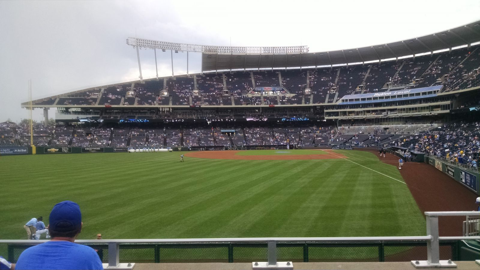 Seat View for Kauffman Stadium Section 105, Row C, Seat 14