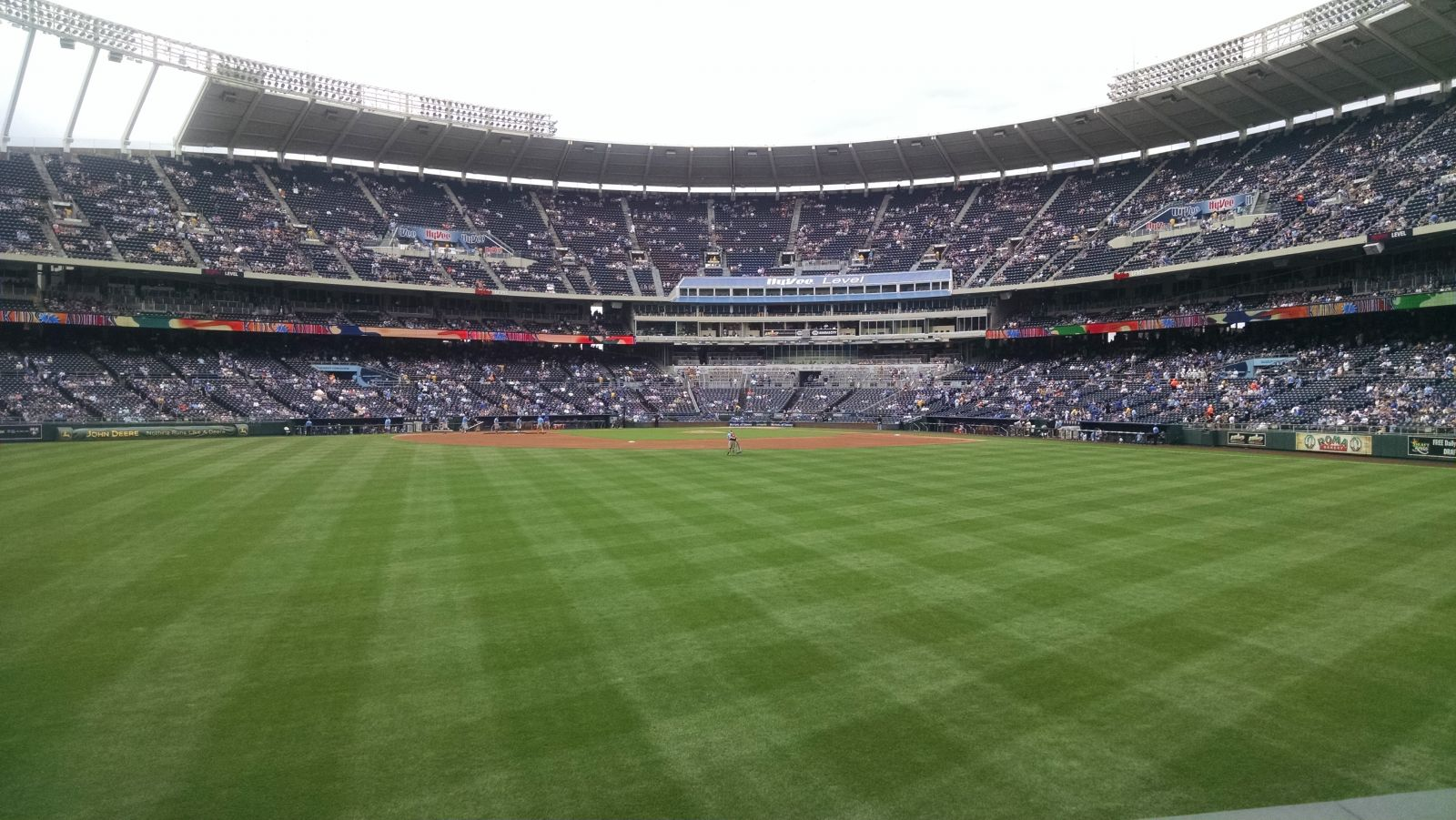 Seat View for Kauffman Stadium Section 102, Row C, Seat 4