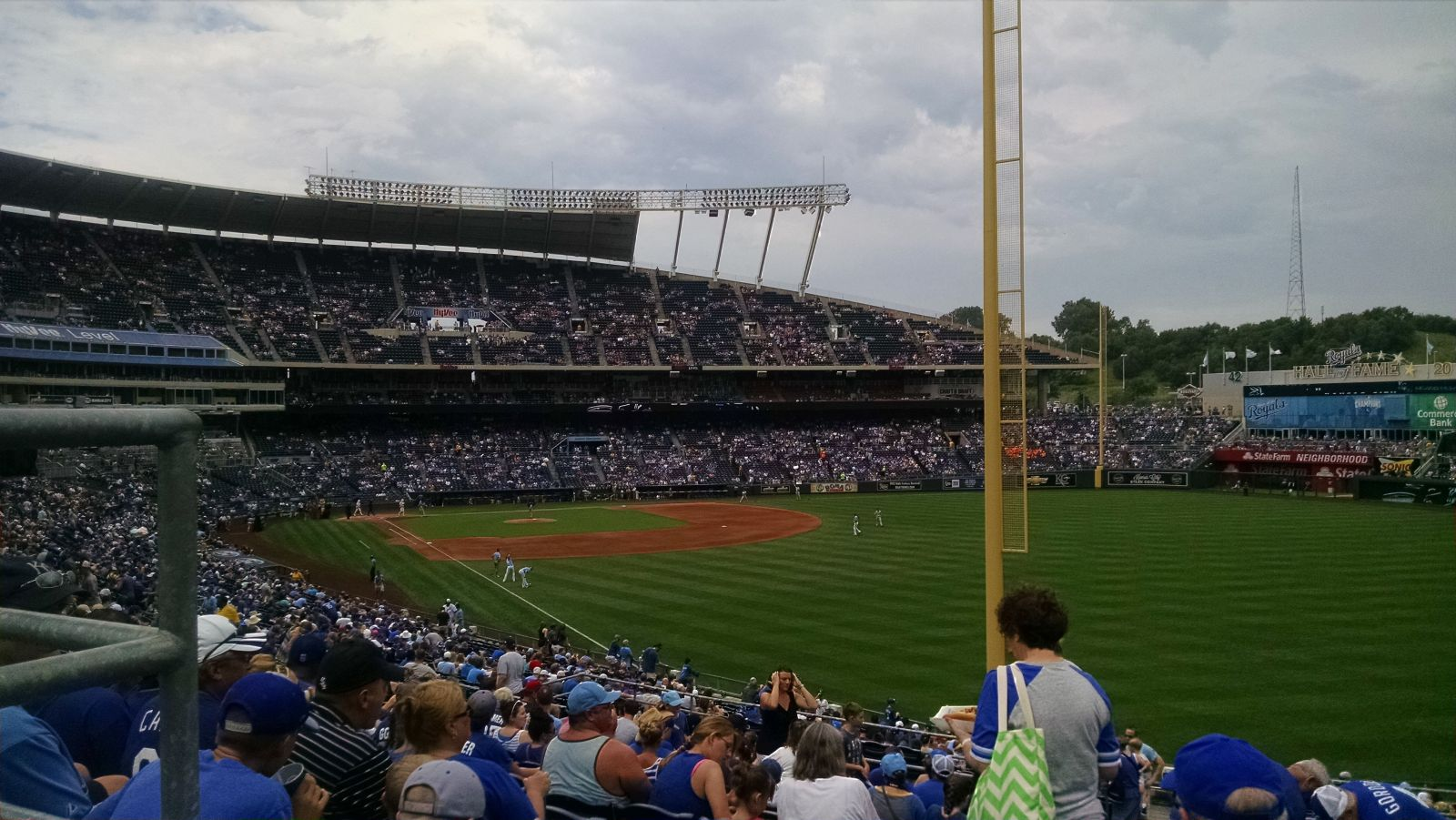 Kauffman Stadium : Row S