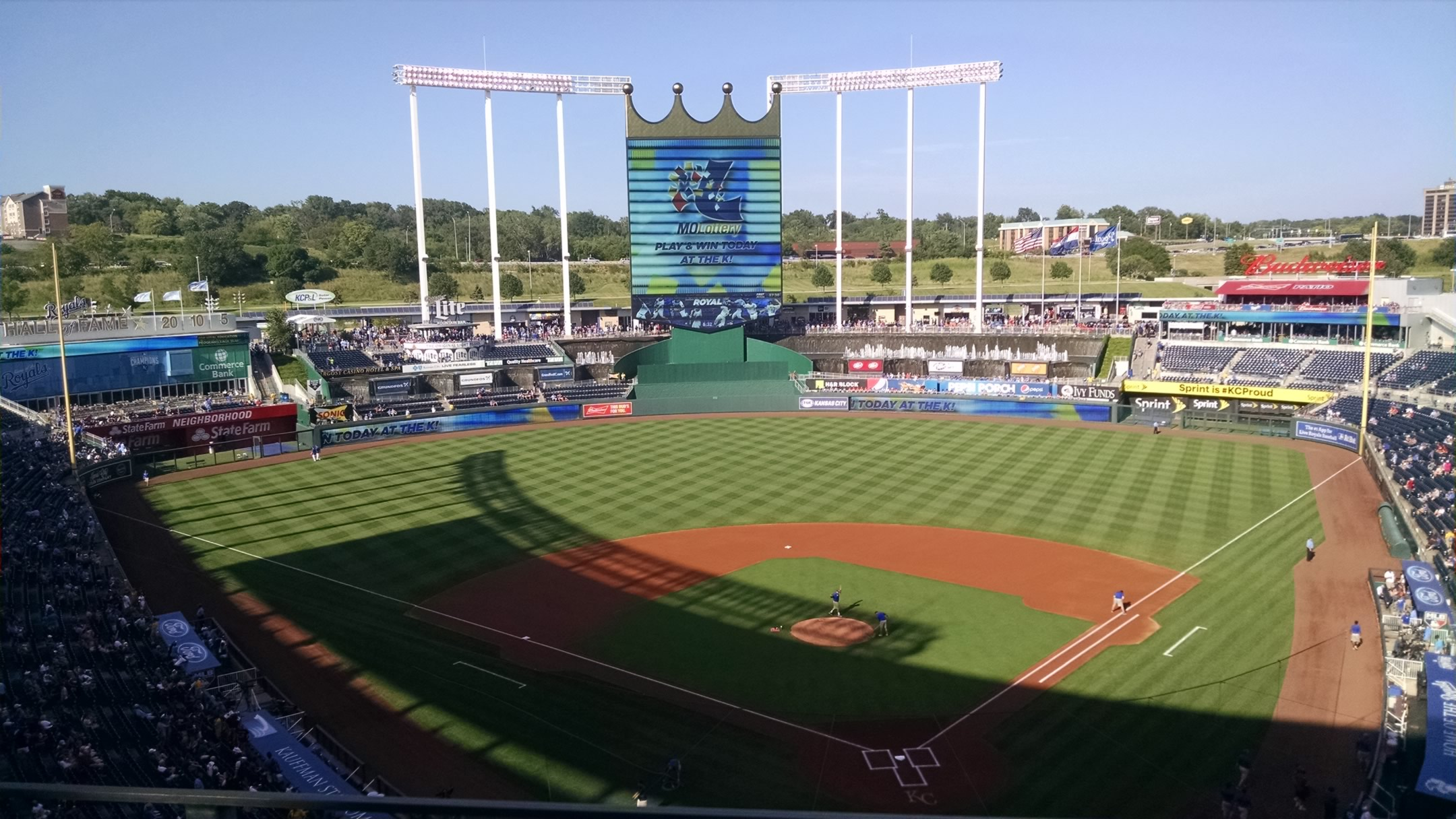 Kauffman Stadium : Row J
