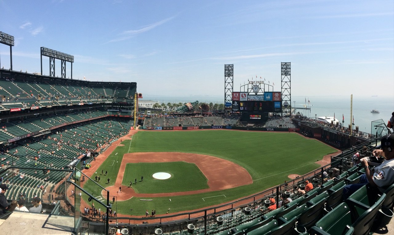 San Francisco Giants Seat View for AT&T Park Section 310, Row 3, Seat 18