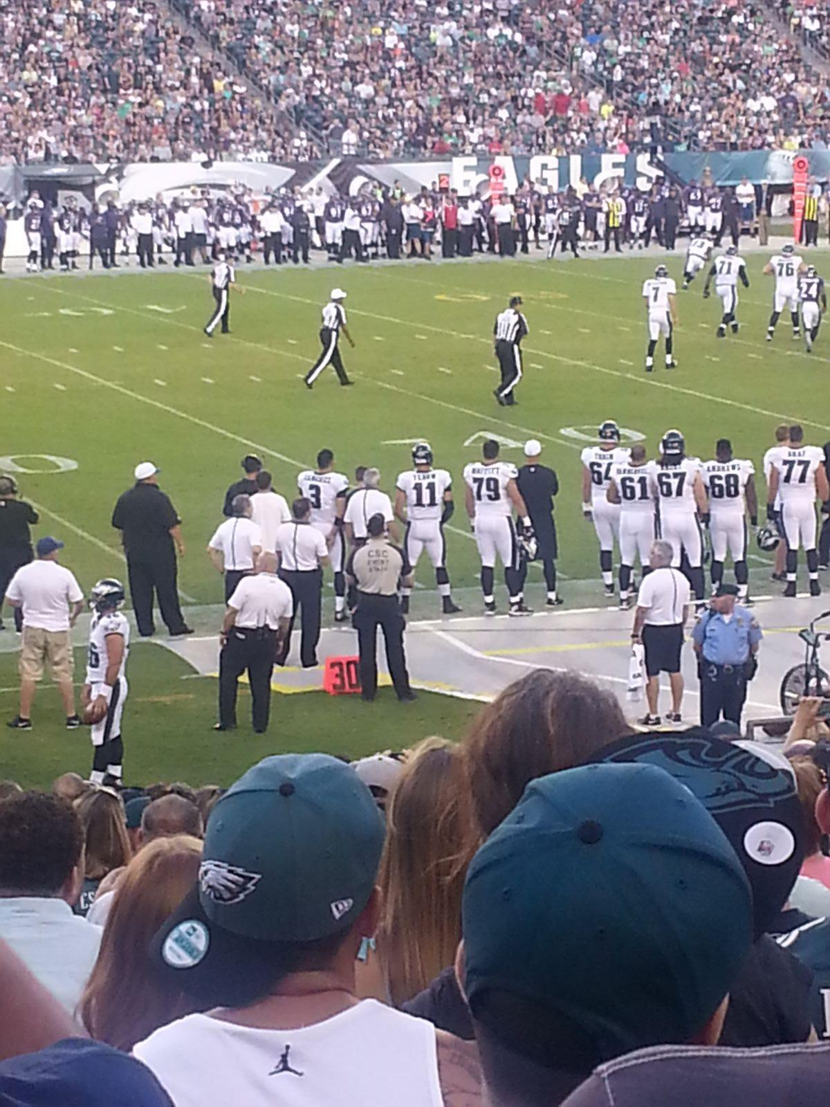 Seat View for Lincoln Financial Field Section 137, Row 22, Seat 18