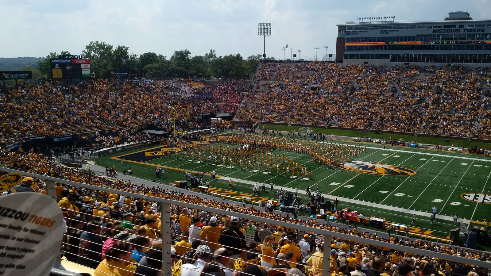 Seat View for Faurot Field Club 213, Row 3, Seat 5