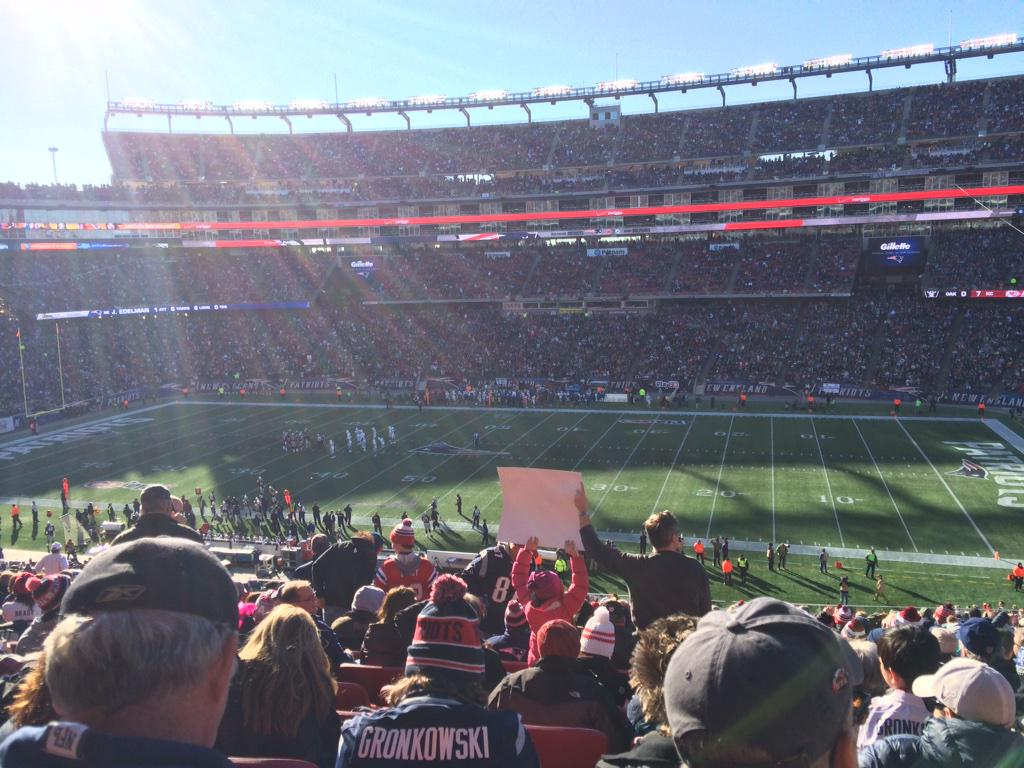 New England Patriots Seat View for Gillette Stadium Section CL6