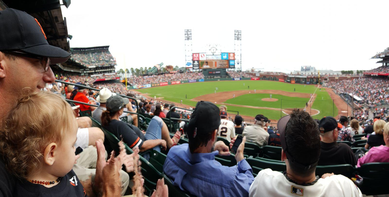 San Francisco Giants Seat View for AT&T Park Section 219, Row F, Seat 9