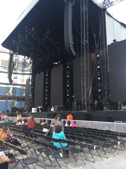 Concert Seat View for Gillette Stadium Field A1, Row 7, Seat 25