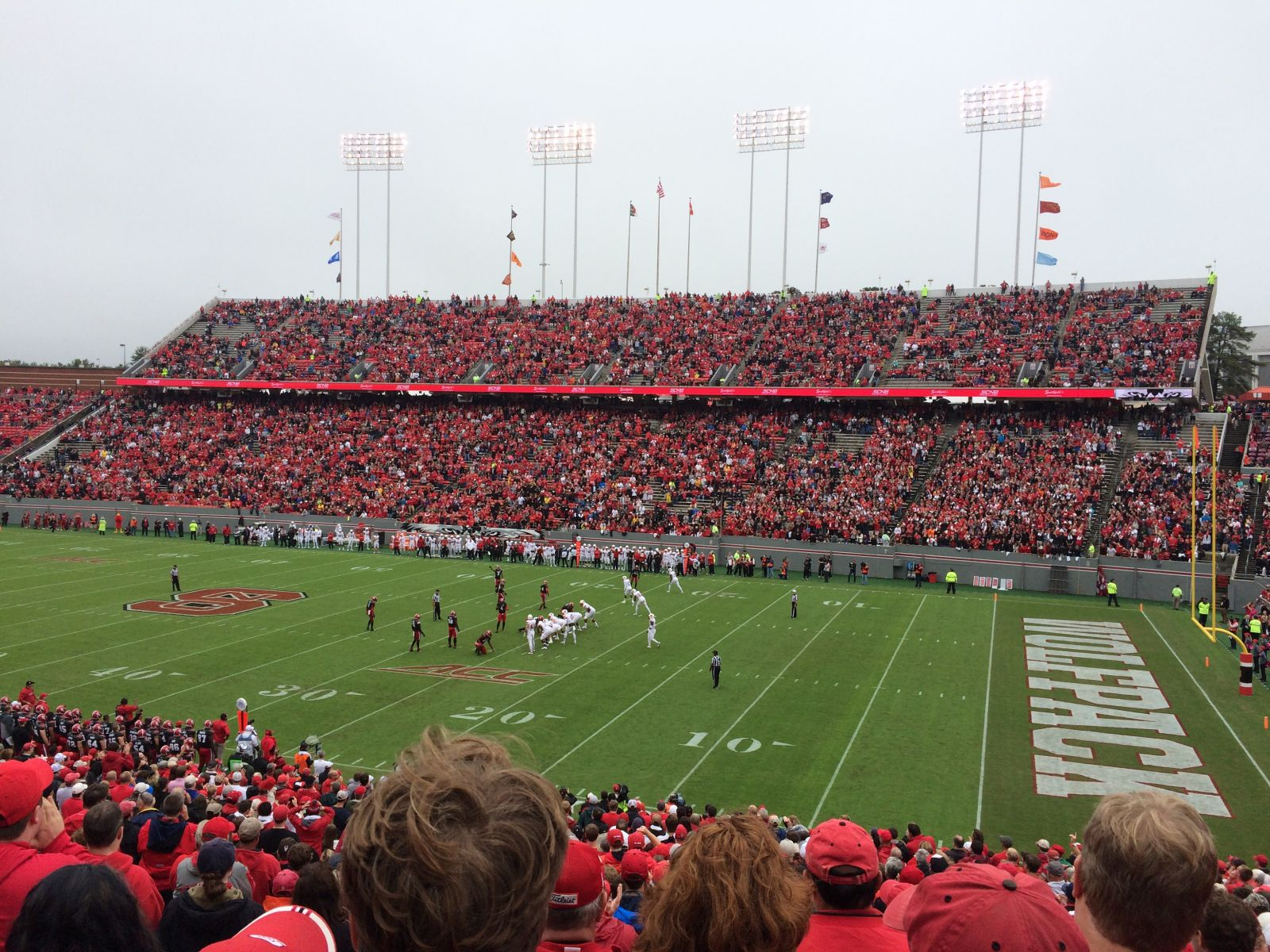 Seat View for Carter-Finley Stadium Section 18, Row JJ, Seat 5