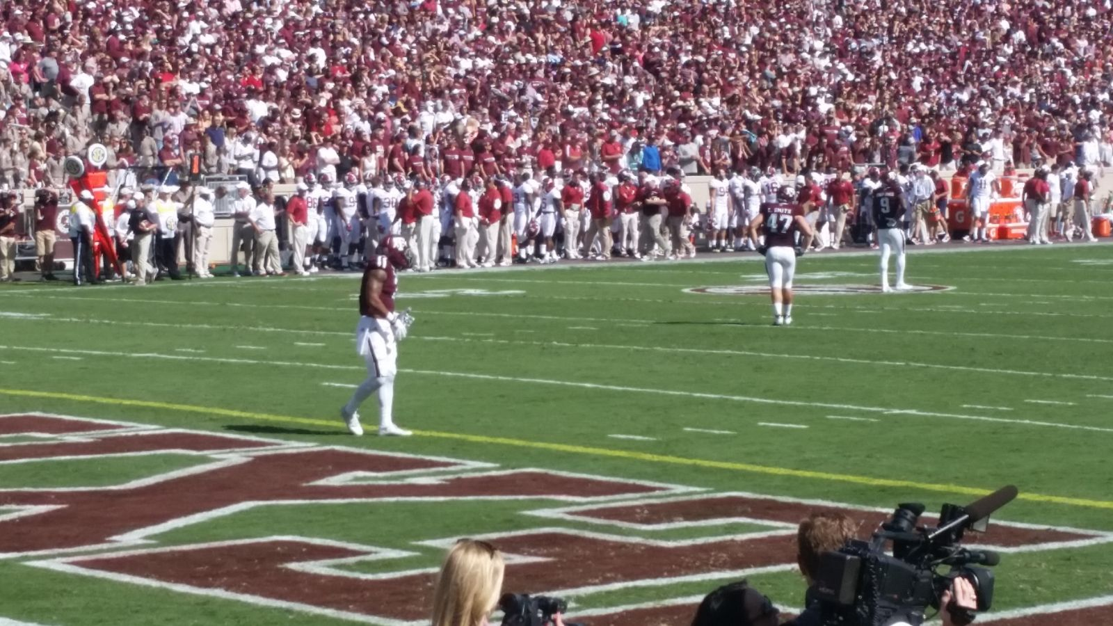 Seat View for Kyle Field Section 114, Row 3, Seat 3