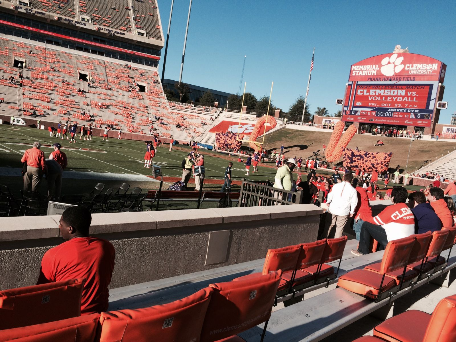Seat View for Memorial Stadium Section E, Row F, Seat 22