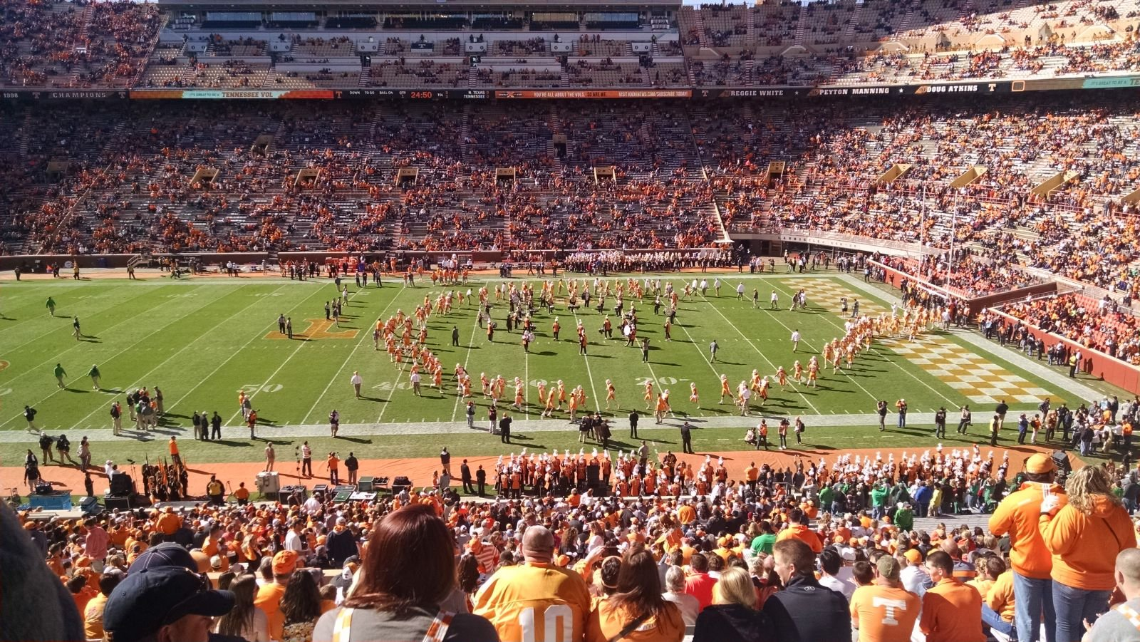 Seat View for Neyland Stadium Section B, Row 54, Seat 23