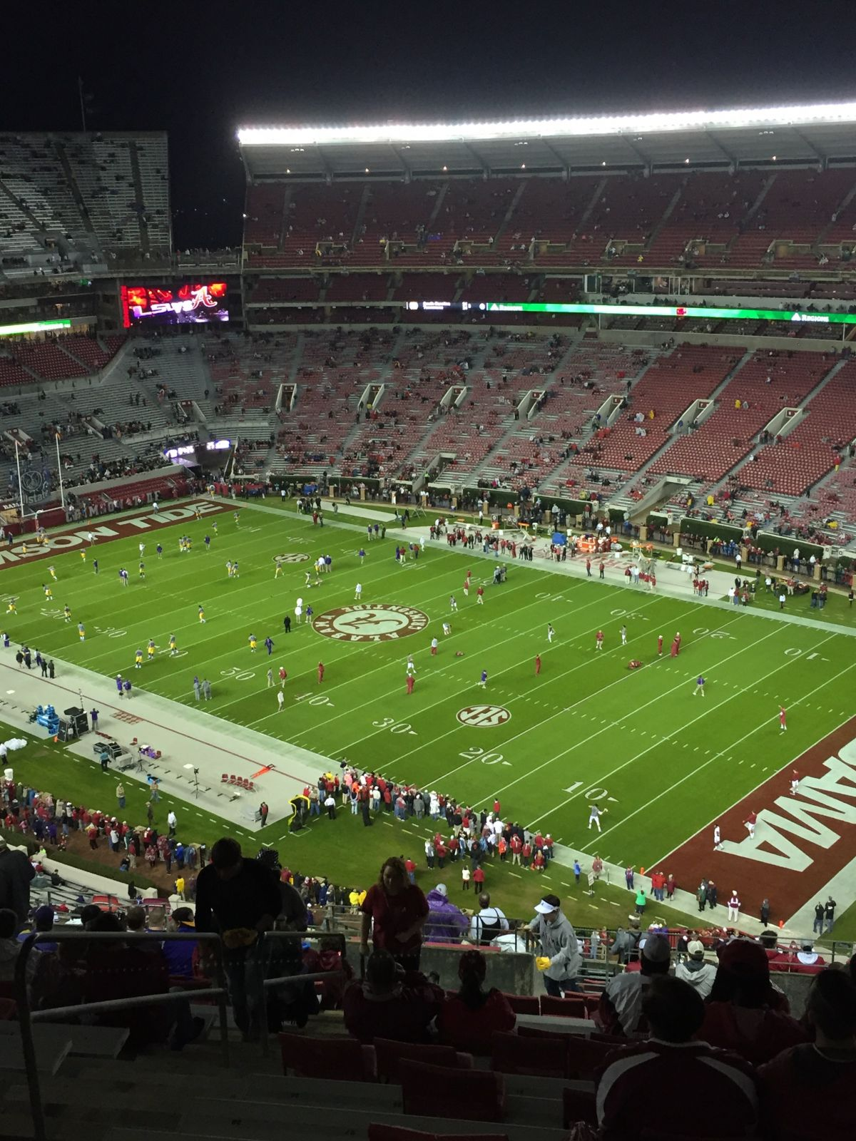 Seat View for Bryant-Denny Stadium Section U4QQ, Row 27