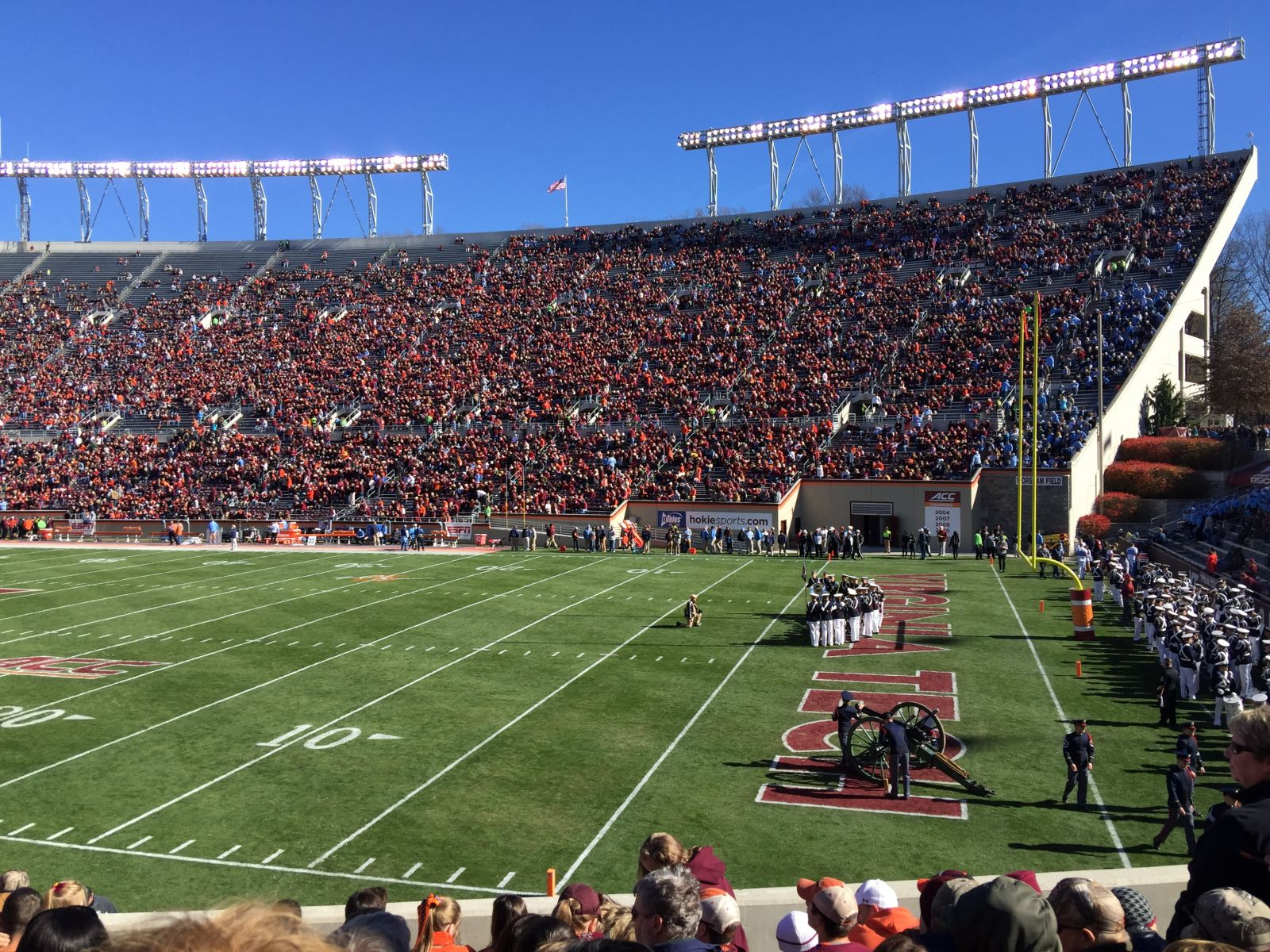 Seat View for Lane Stadium Section 20, Row X, Seat 17