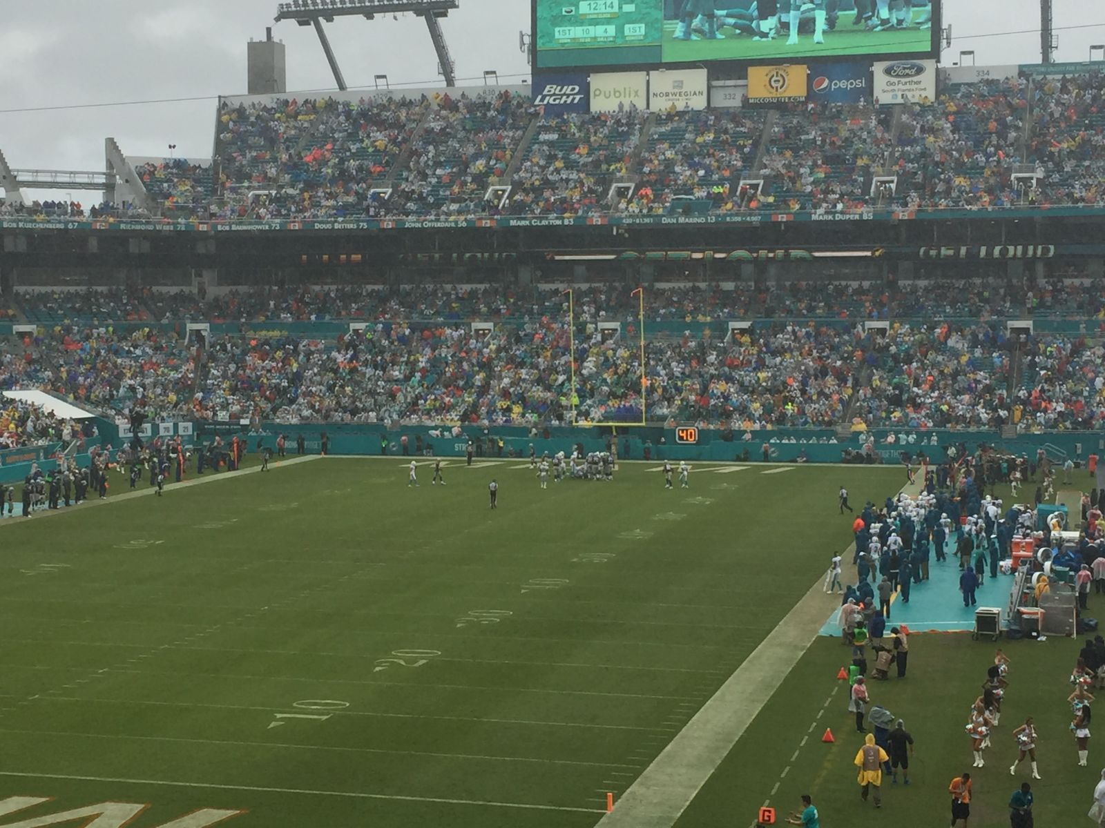 Seat View for Hard Rock Stadium Section 201, Row 6, Seat 15