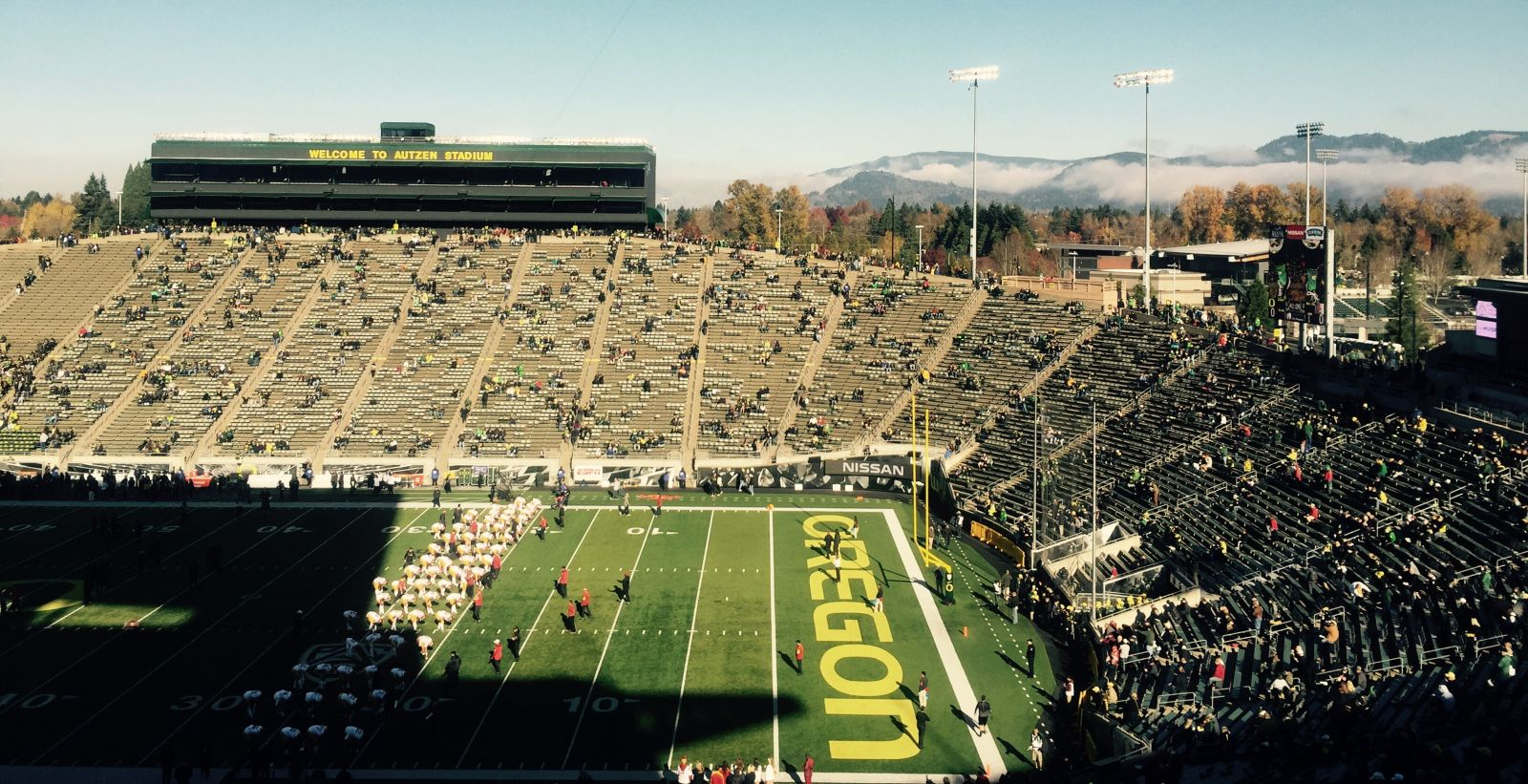 Seat View for Autzen Stadium Section 27, Row 66, Seat 25