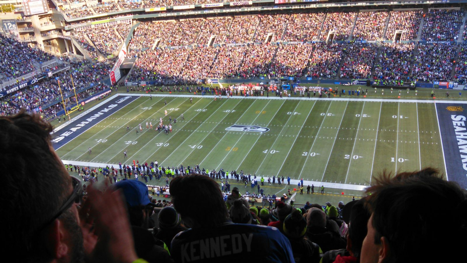 Seattle Seahawks Seat View for CenturyLink Field Section 332, Row JJ, Seat 24