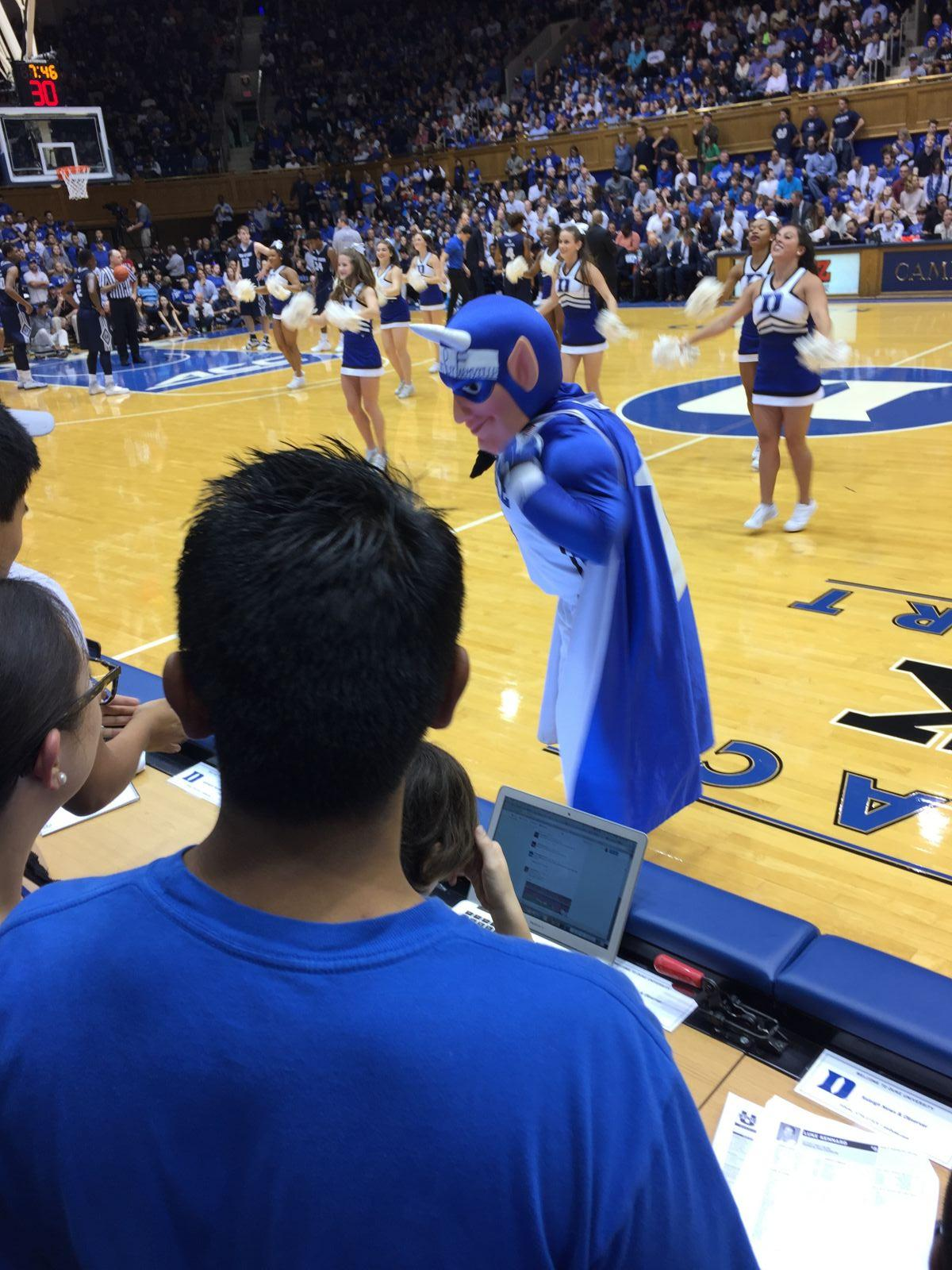 Seat View for Cameron Indoor Stadium Section 17, Row 2