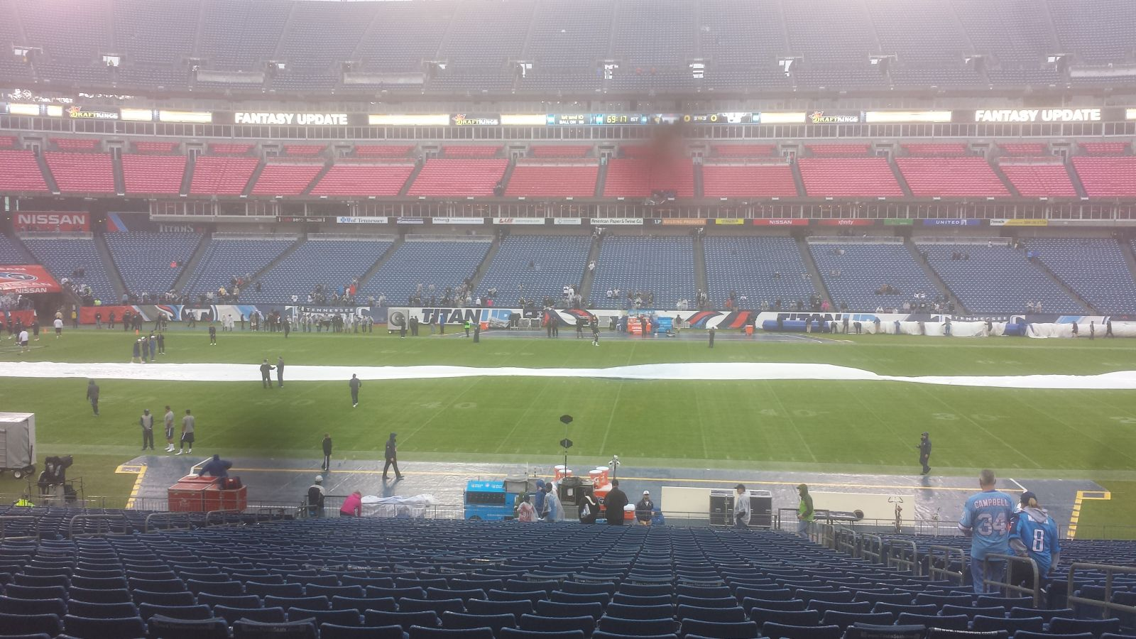 Seat View for Nissan Stadium Section 135, Row KK, Seat 5