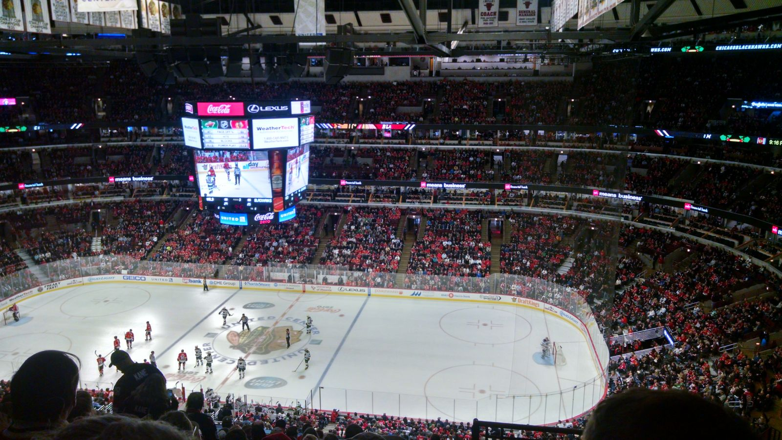 Chicago Blackhawks Seat View for United Center Section 333, Row 12, Seat 1