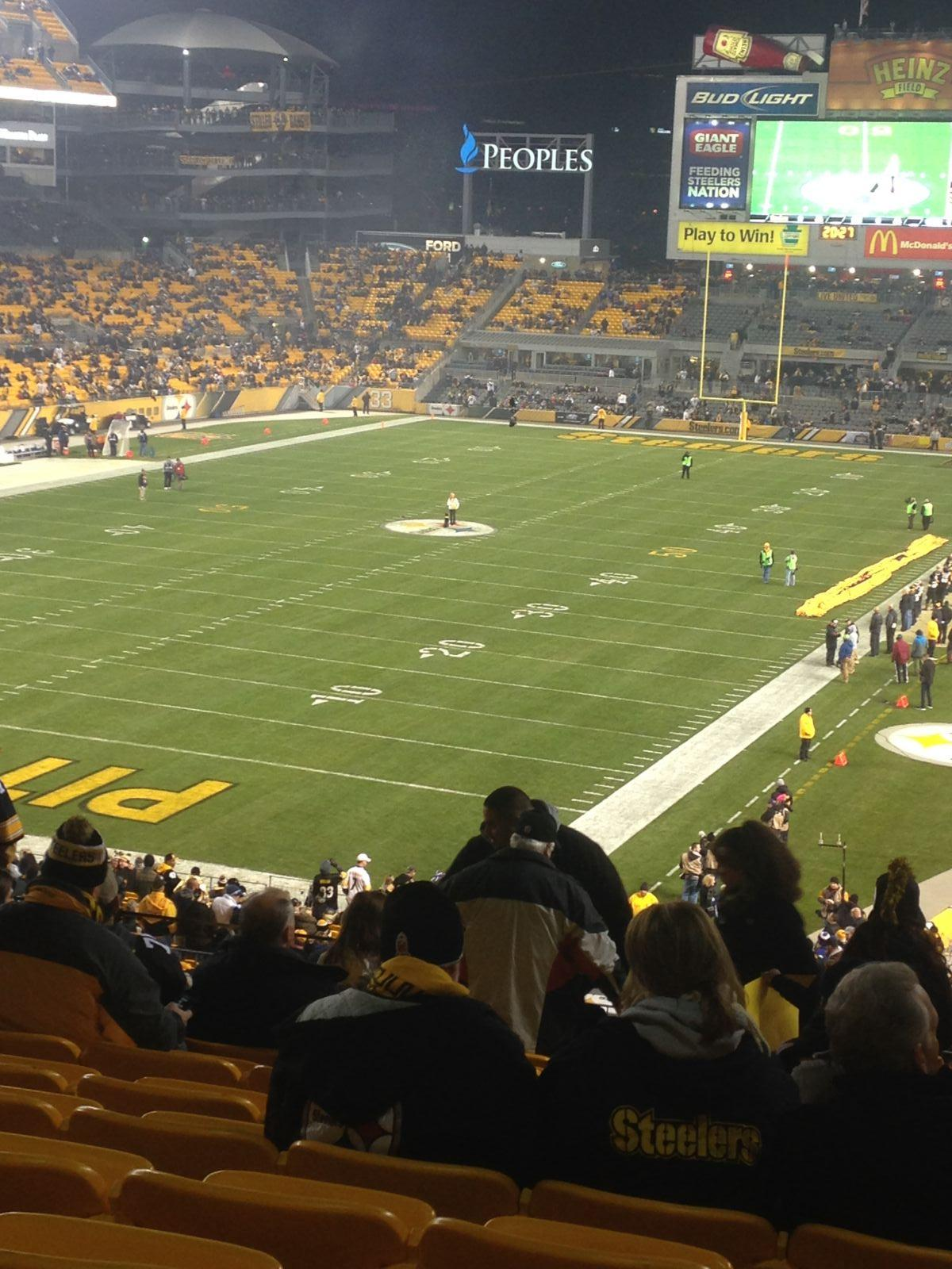 Seat View for Heinz Field Section 226, Row O, Seat 19