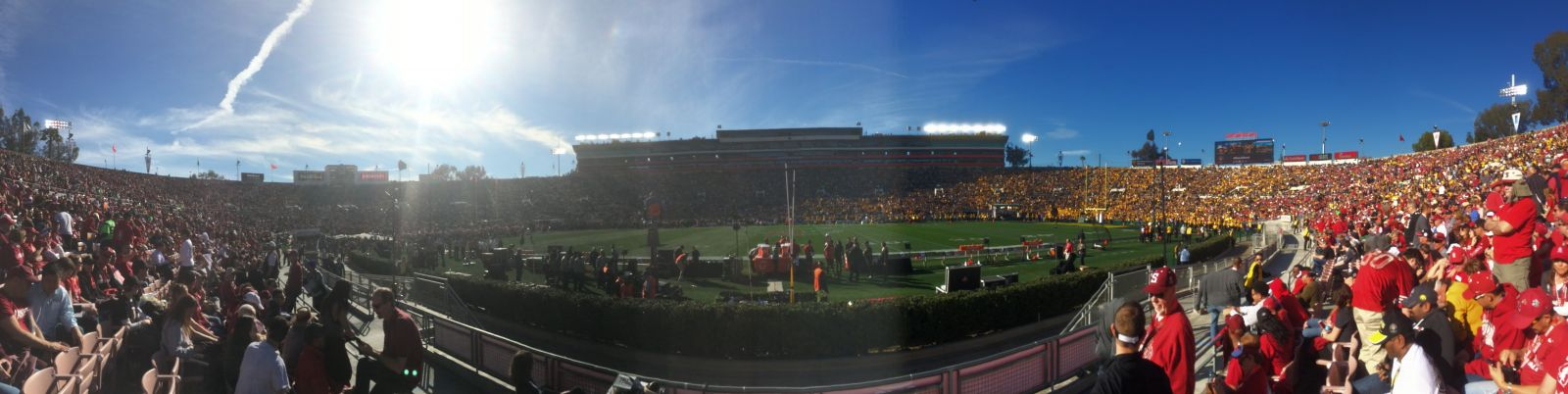 Seat View for Rose Bowl Stadium Section 5, Row 3, Seat 9