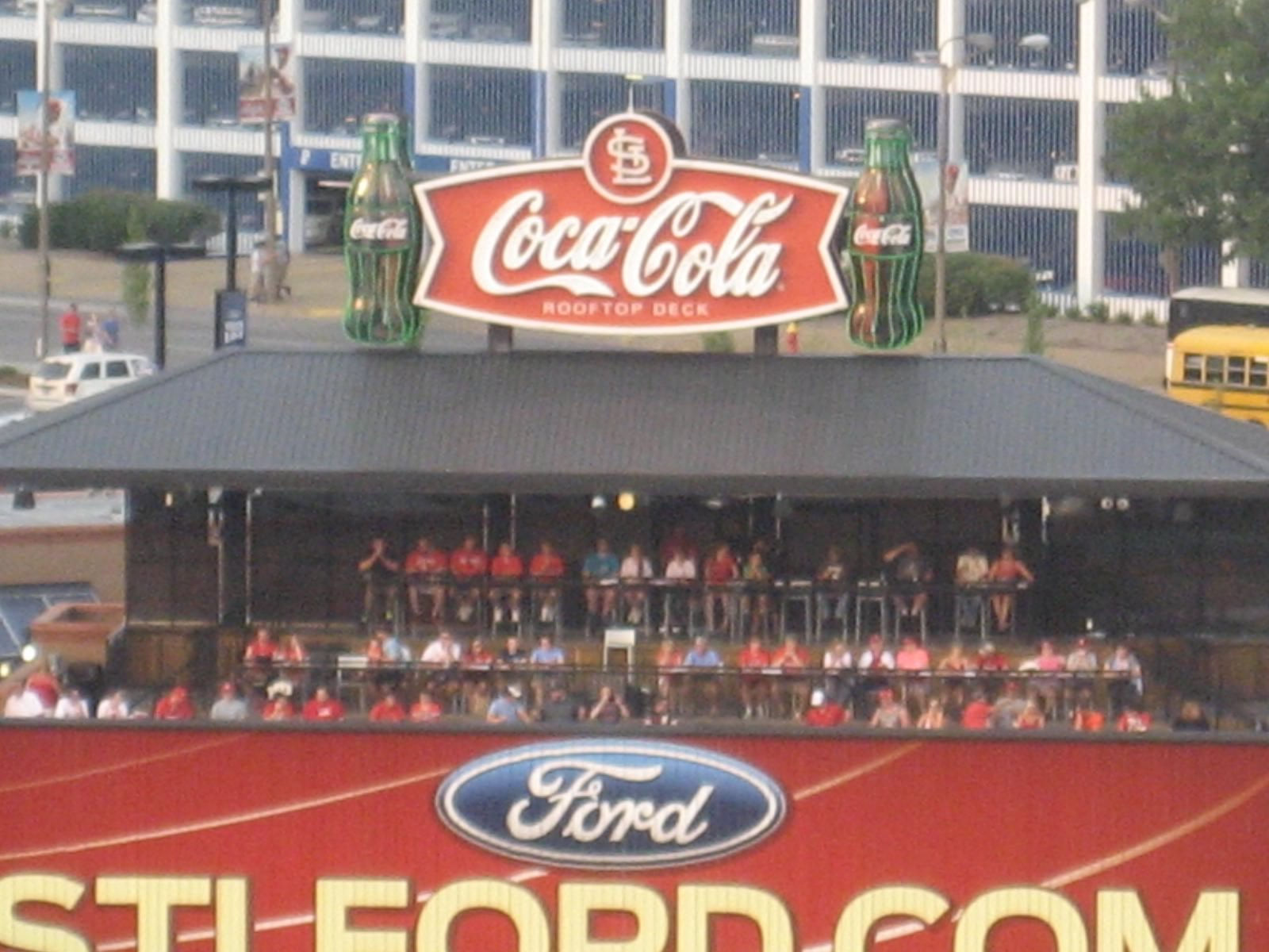 busch stadium coca cola rooftop deck. Black Bedroom Furniture Sets. Home Design Ideas