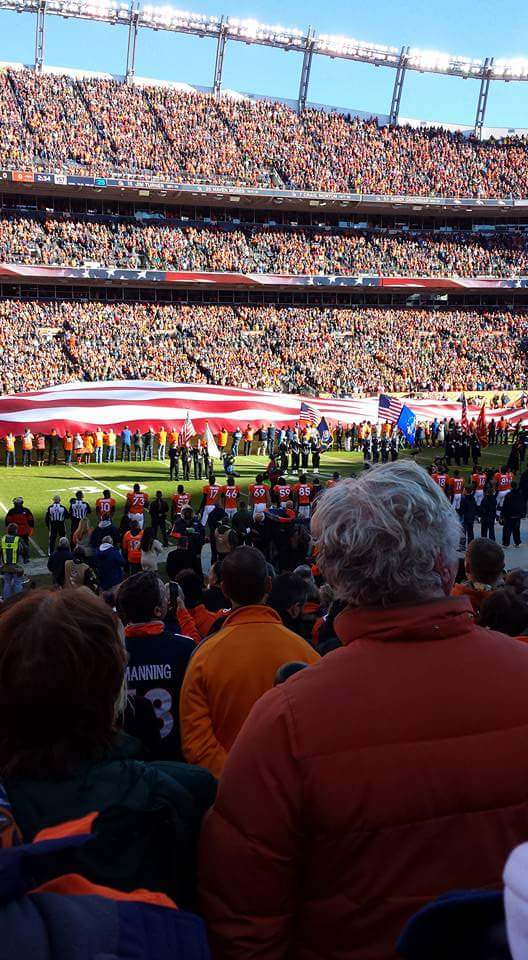 Seat View for Sports Authority Field Section 107, Row 13, Seat 16