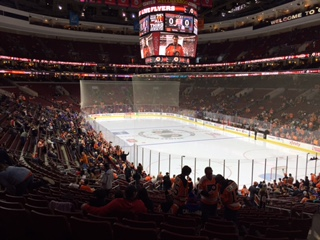 Philadelphia Flyers Seat View for Wells Fargo Center Section 117, Row 25, Seat 18
