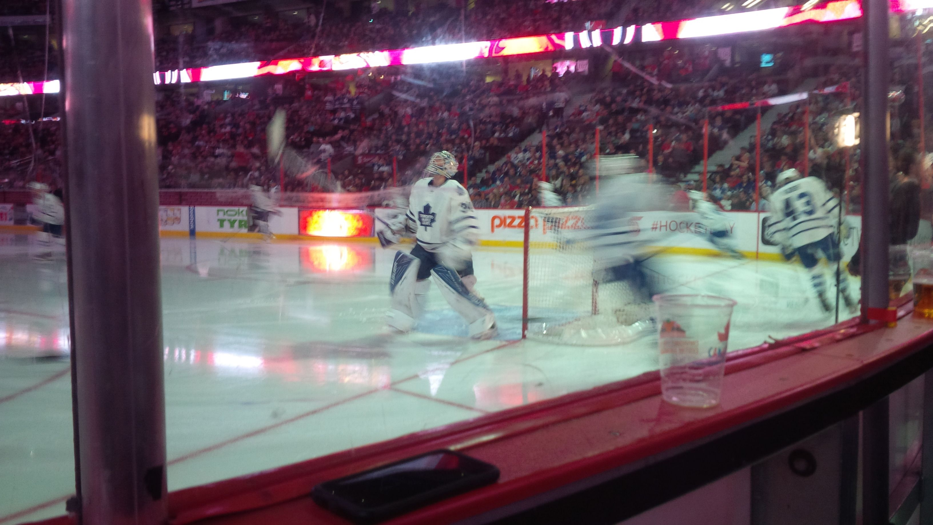 Seat View for Canadian Tire Centre Section 112, Row A, Seat 5