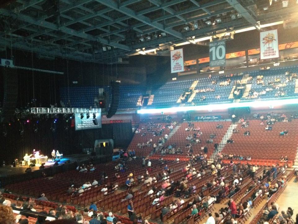 Mohegan Sun Arena Section 116 Concert Seating