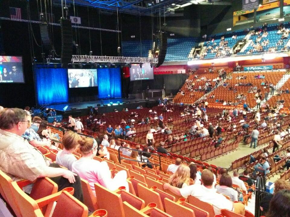 Concert Seat View For Mohegan Sun Arena Section 23 Row N