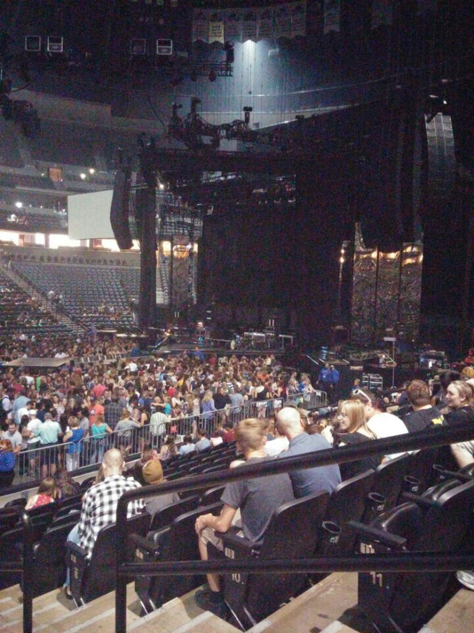 Concert Seat View For Pepsi Center Section 102 Row 12