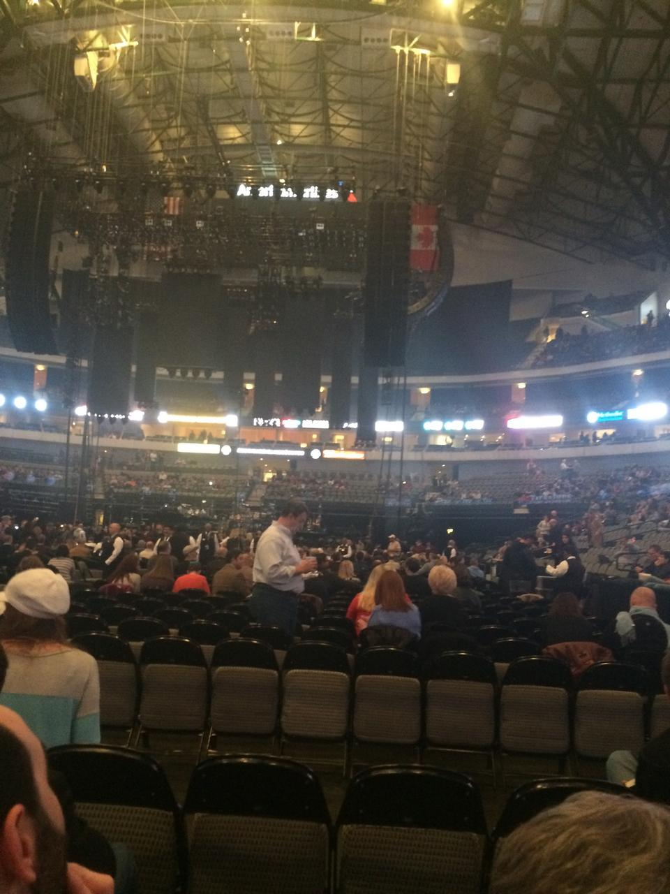 Concert Seat View for American Airlines Center Floor 18