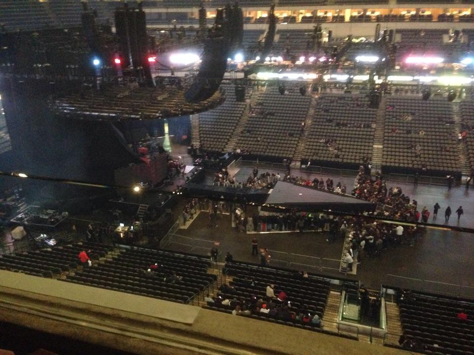 Concert Seat View for American Airlines Center Section 218, Row A