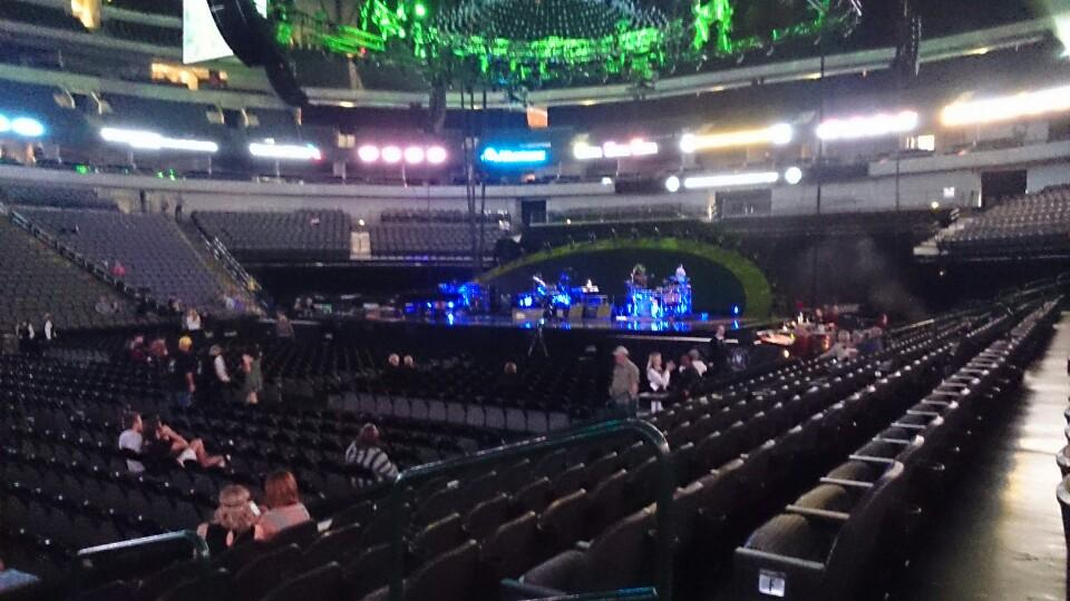 Concert Seat View for American Airlines Center Section 108, Row F