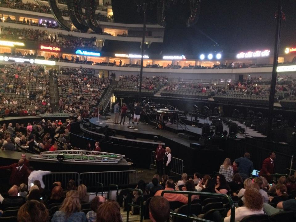 Concert Seat View for American Airlines Center Section 105, Row K