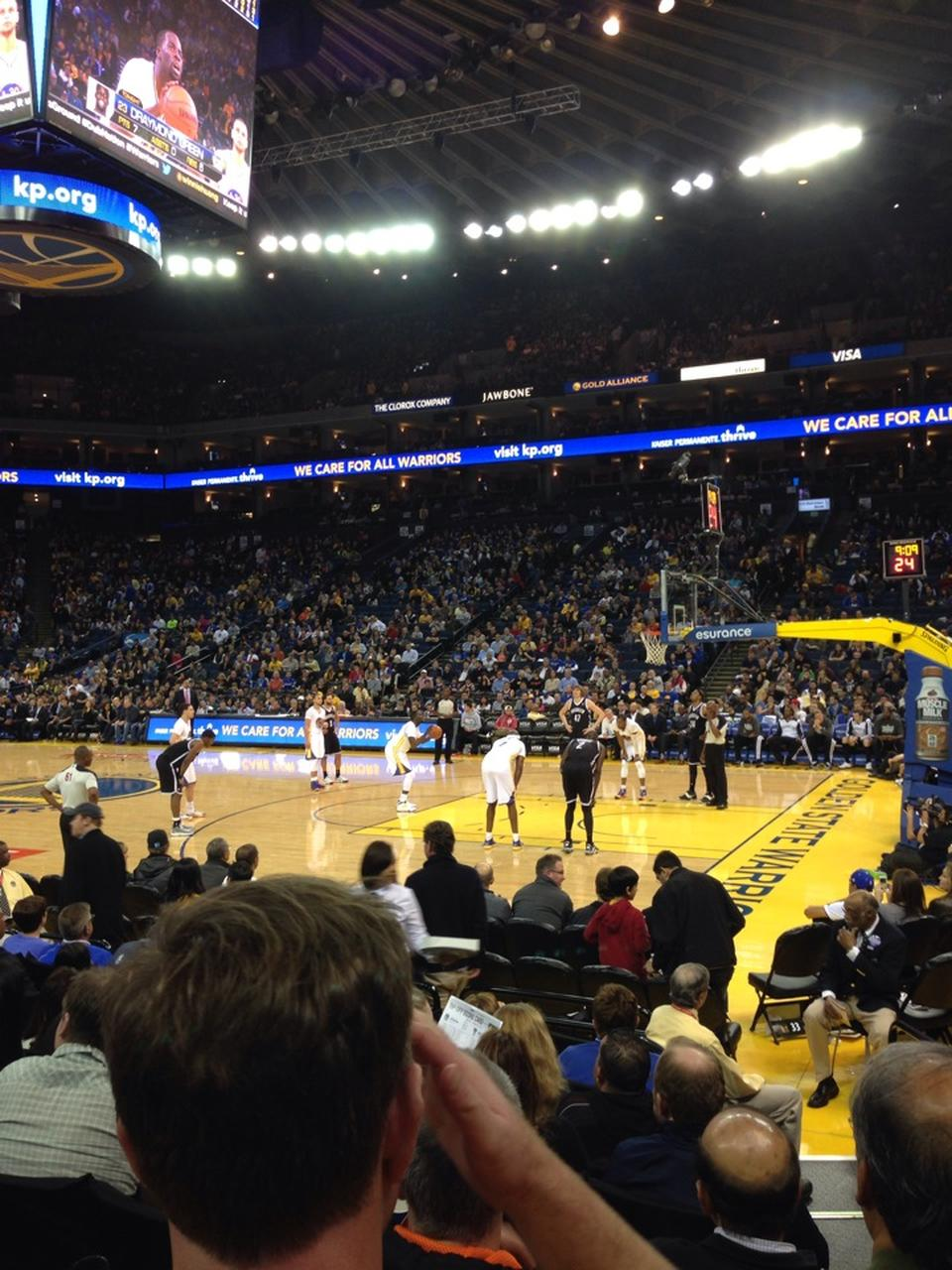 Seat View for Oracle Arena Section 113, Row 7