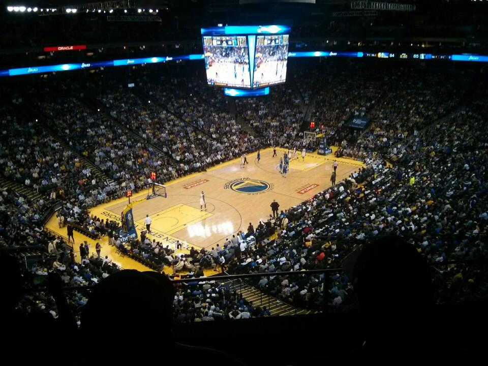 Seat View for Oracle Arena Section 205, Row 3